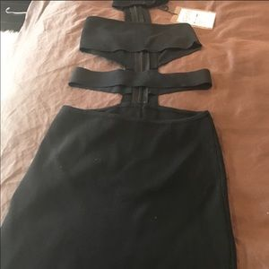 Black cutout dress